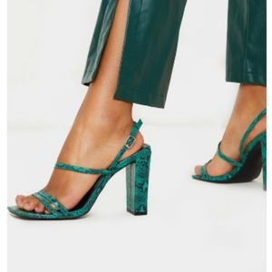 Green snake heels